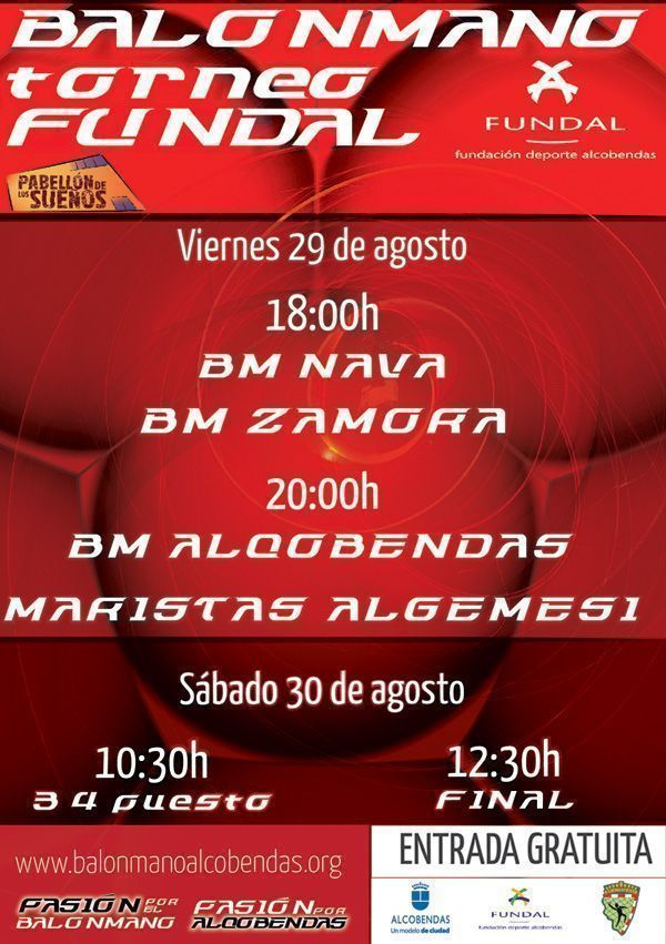 CARTEL TORNEO FUNDAL DHP 2014-RED